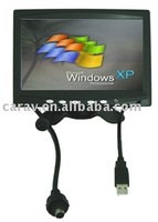 Window XP 7 inch digital brand new panel touch screen in car monitor with VGA/built-in speaker, high resolution