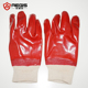Red PVC coated chemical safety work glove