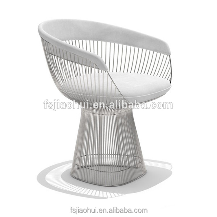 JH-M009 Replica Knoll platner home furniture metal cover leather armchair