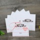 Chinese Newest Decoration Embossing Wedding Table Number Invitation cards