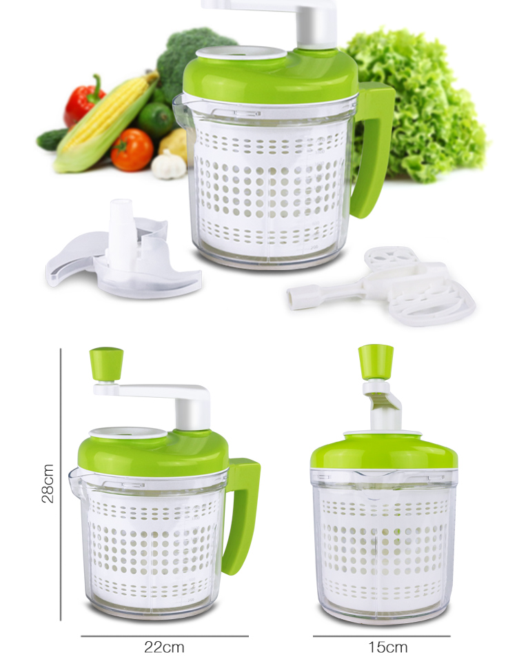 Wholesale New Arrival Kitchen King Pro Manual Commercial Household Protable  Multifunction Chop Vegetable Food Processor
