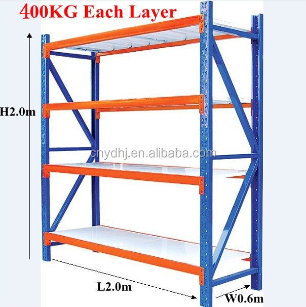 Hot Selling Item Warehouse Long Span Storage Steel Shelving with Adjustable Bays from Suzhou Factory YD-250