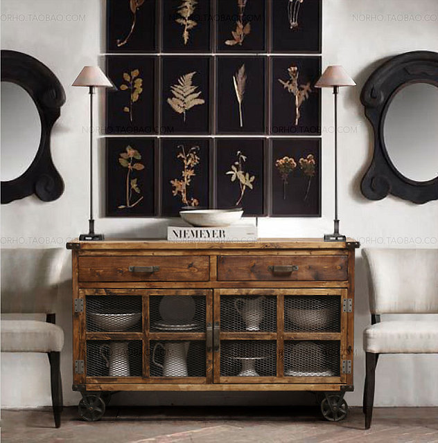 american industrial retro tun roller sideboard mit. Black Bedroom Furniture Sets. Home Design Ideas