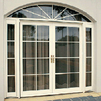 Arch aluminum window manufacturer side hung door double for Aluminum french doors