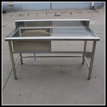 Bon Manufacturer One Sink Inox Table Stainless Steel Kitchen Working Sink Table  For Restaurant