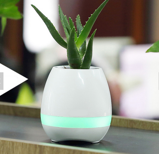 led Smart Music ceramic Flower Pots cheap plastic flower pot