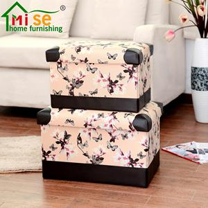 Large Foldable Waterproof Faux Leather Home Sundries Storage Stool storage ottoman organizer cloth storage chairs toy box