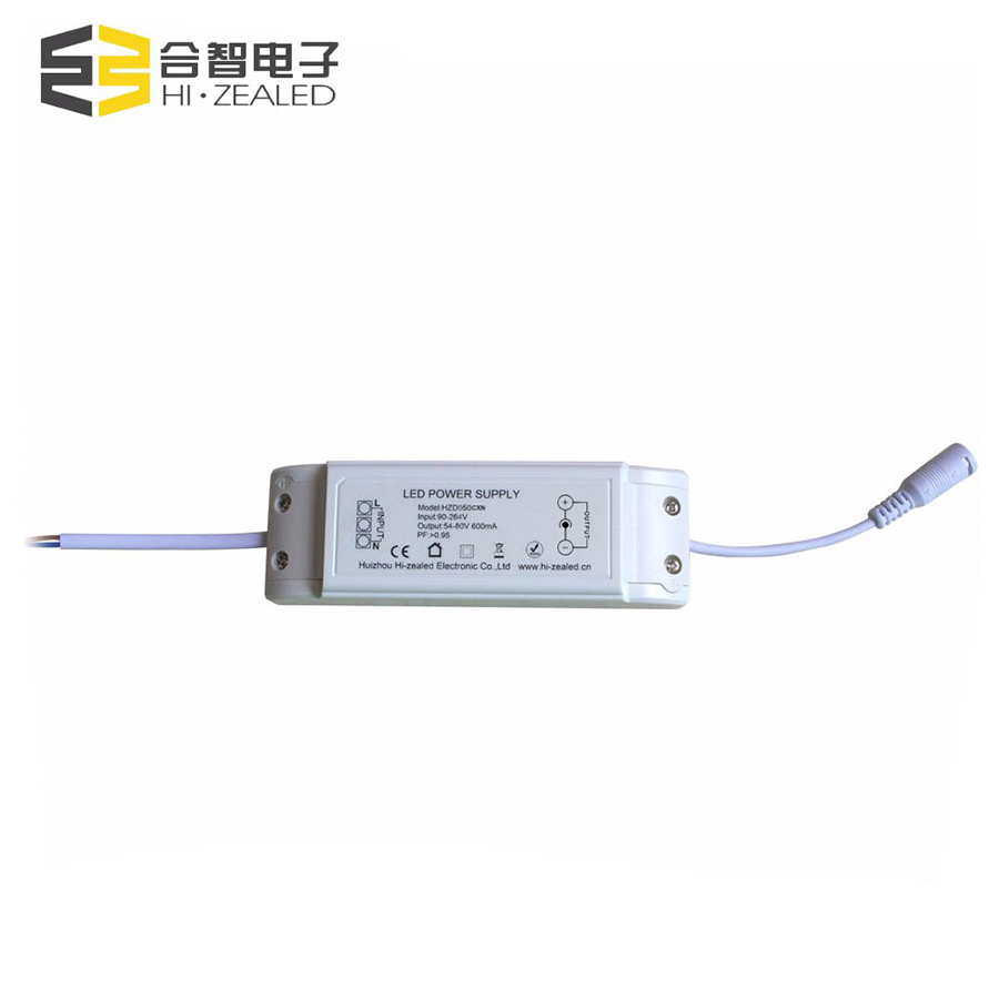 50W CE approved constant current led transformer for led panel light driver