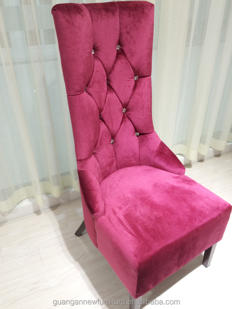 Hilton Style Hotel Lobby Furniture High Back Wing Chair For Wedding ...