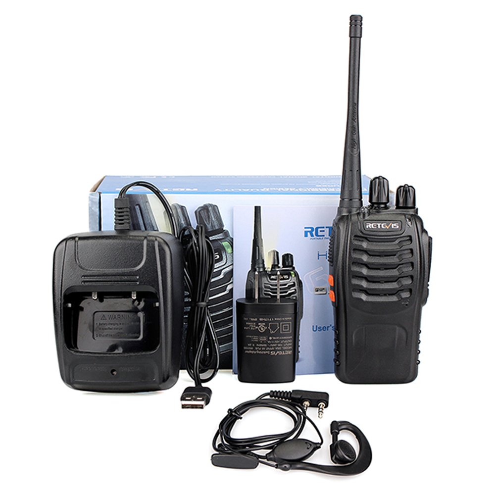 Retevis H777 5W business Walkie Talkie CTCSS/DCS UHF400-470MHz 16CH FM Two Way Radio Signal Frequency& Band with Free Earpiece фото