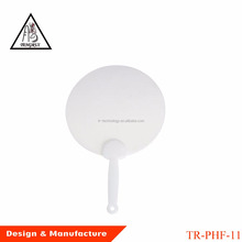 blank drawing plastic round hand fan for promotional