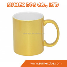 Personalized Blank 11oz Sublimation Ceramic Golden Silver color Magic Mug
