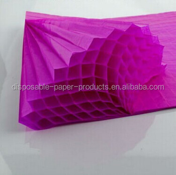 Arts And Crafts Supplies A4 Honeycomb Paper Purple Honeycomb Tissue