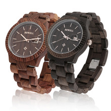 Casual Bewell W112A Women Full Natural Wood Round Wristwatch Quartz Analog Wooden Watch Gift Hot!