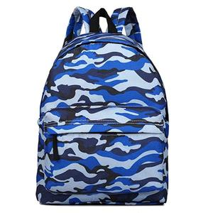 Stylish blue snow camo backpack