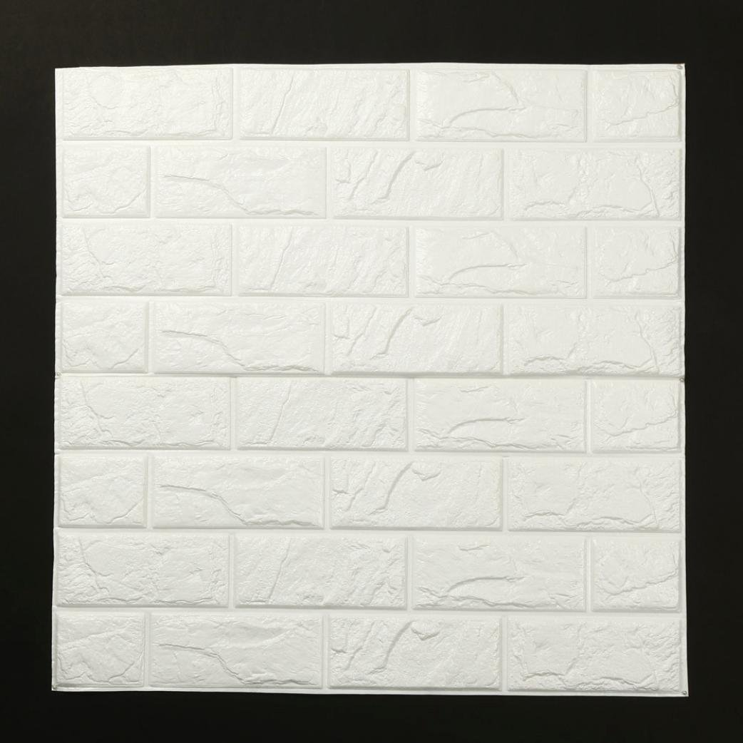 Rumas PE Foam 3D Wallpaper DIY Wall Stickers Wall Decor Embossed Brick Stone