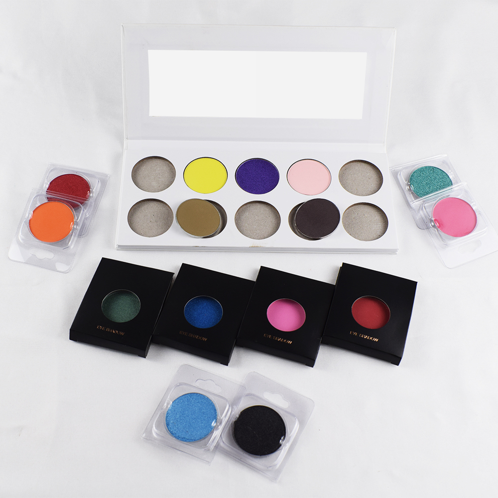 Custom Cosmetics High Pigment Single Eyeshadow Pans  Size 50 Colors Factory Wholesale, Matte and shimmer
