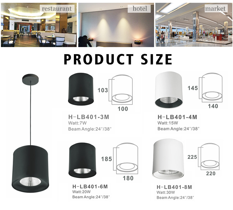 Professional Manufacturer 7W 15W Dimmable Surface Mounting Ceiling linear LED Pendent Light Price
