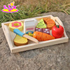 New design preschool food set toys wooden kids play food W10B184