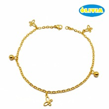 Sexy slave traditional indian butterfly shape charm bracelet chain anklet