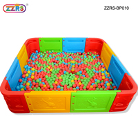 removable playground toys square plastic kids ball pool for rental