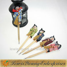Fashion design halloween witch ball pens