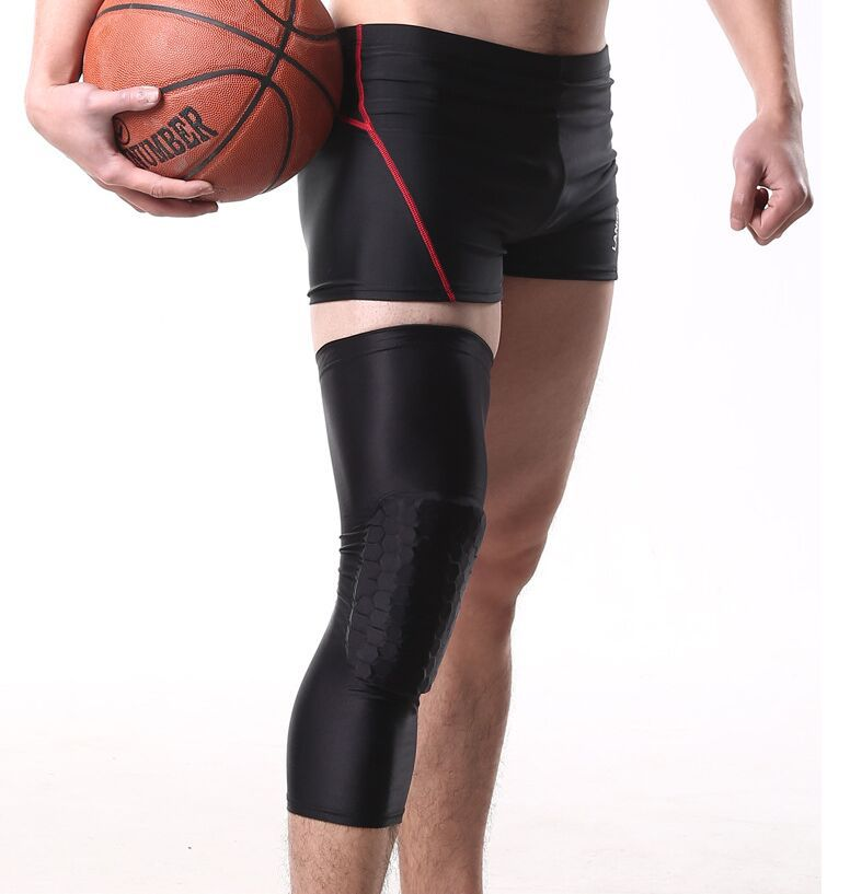 sports shoes 22a59 4cbc5 Get Quotations · 2pcs Kneelet Brace Joelheira Honeycomb Knee Pads Bumper  Crashproof Football Basketball Leg Sleeve Sports Kneepad Protector
