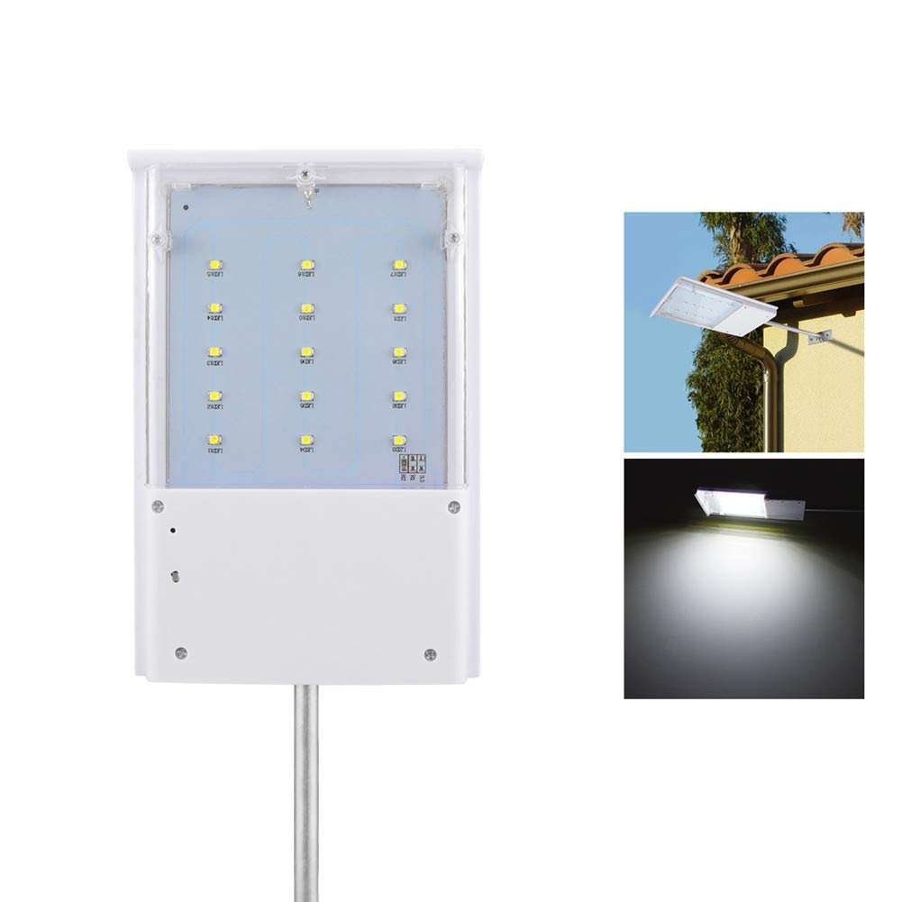 LED Security Lights Solar Powered, LED Street Lights Outdoor Dusk to Dawn, AIMENGTE 15 LEDs Light Sensor Landscape Lights, IP65 Waterproof Night Emergency Lamp for Wall, Garage, Pathway.