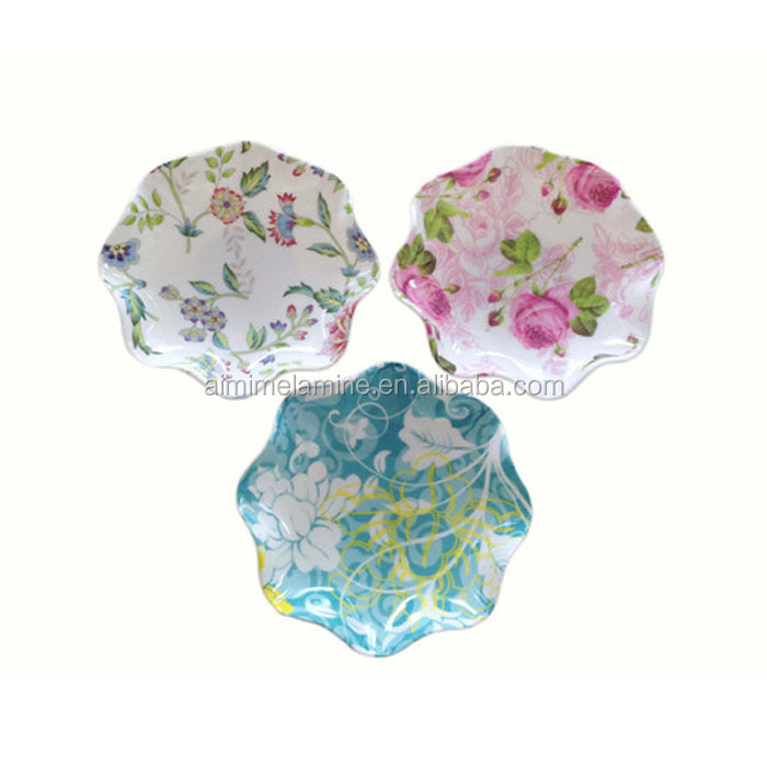 Top Selling Custom Printed Melamine Chip And Dip Set