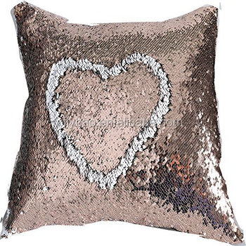 Chinese Supplier Customized Shiny Beautiful Wholesale Fish Scale High Quality Decorative Sequin Pillow Bicolor