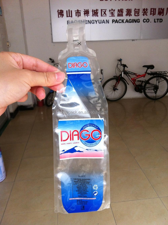 Custom Bottle Shaped Heat Seal Mineral Water Pouch Buy