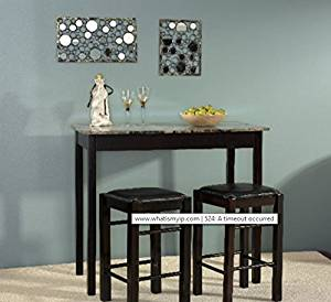 Get Quotations · Dining Room Sets For Small Spaces, 3 Pieces Dining Room  Sets For Small Space Counter