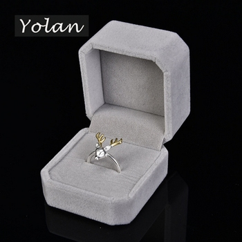 velvet ring box engagement ring box wedding ring box manufacturers Yiwu