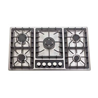 Good quality kitchen 5 burner glass top gas stove