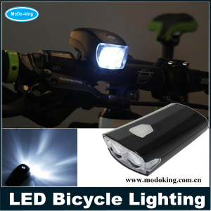 Hot Selling Cycling Bike Super Bright LED Front Torch Headlight Light Lamp Bracket 3 Modes Waterproof Black Bicycle Light