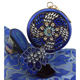 Royal blue African ladies wedding designer matching italian shoes and bag set