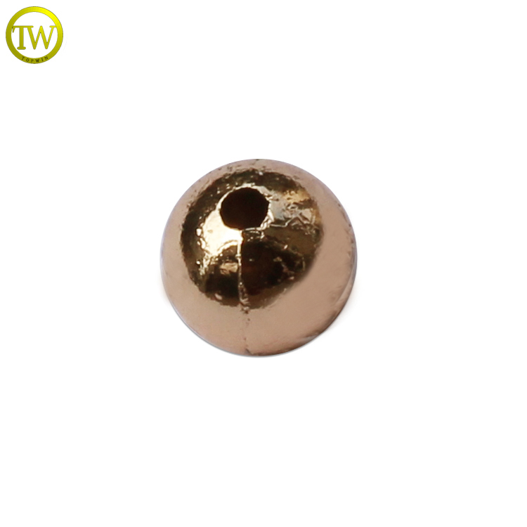 MC691 Custom round engraved logo charms metal beads for jewelry