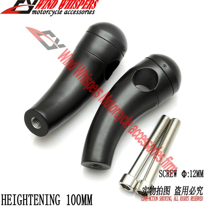 25 мм мотоцикл усиливая 10 см ручка бар зажимы образного руля для Harley XL883 1200 Magna конь тени vulcan400 800