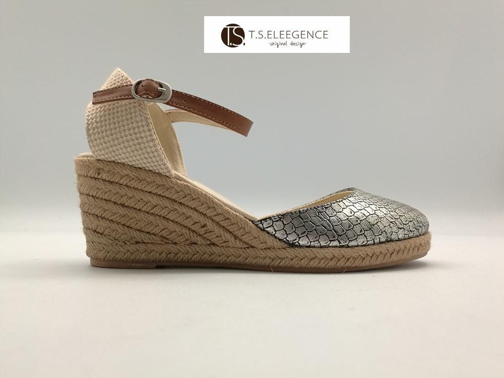 04ac49f86c 2017 ladies silver metallic cheap espadrilles uk girl closed toe espadrille  wedge sandals shoes women