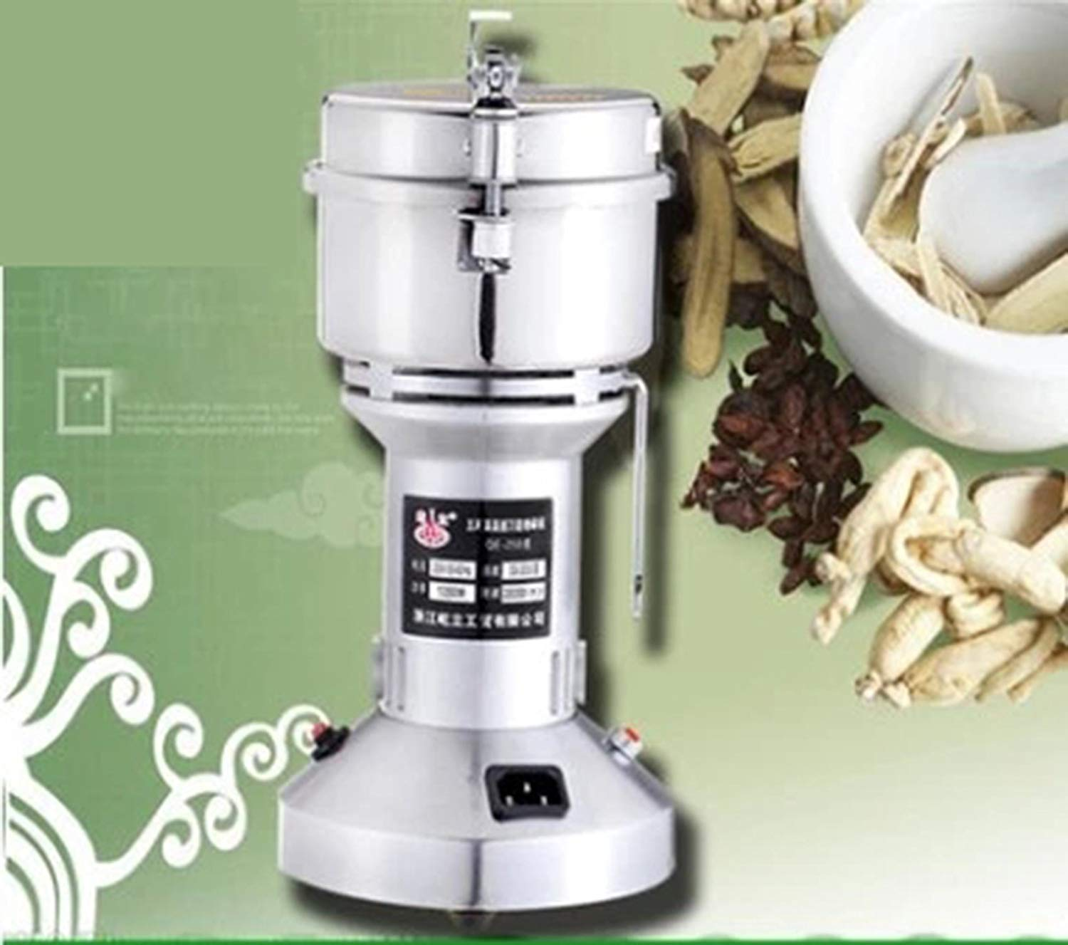 ZGUO 250g Commercial electric stainless steel grain grinder mill Spice Herb Cereal Mill Grinder Flour Mill pulverizer