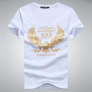 ad9059412f2f6 2018 new model 1 dollar t shirts plain t shirts shining gold printing mens  clothing wholesale