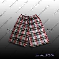 cotton yarn dyed beach shorts