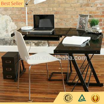 Simple Modern Executive Office Furniture 2 Person Computer Desk L Shape Corner