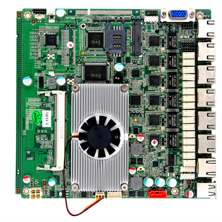 high quality dc12v fanless mini itx j1900 6 lan ports firewall motherboard for pfsense support 3G wifi