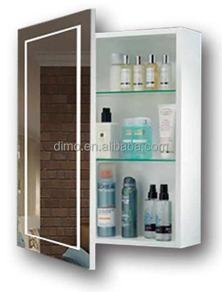 מתוחכם ייצור בסין קיר בסגנון אופק LED מראה בחדר אמבטיה תאורת ארון תרופות ED-05