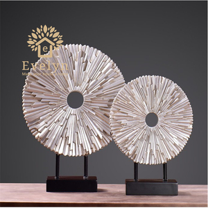 Various spray color large European style designer home interior decoration resin statues collection