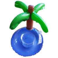 Hot Fashion Custom pvc inflatable palm tree float cup holder cool new floating drink rafts