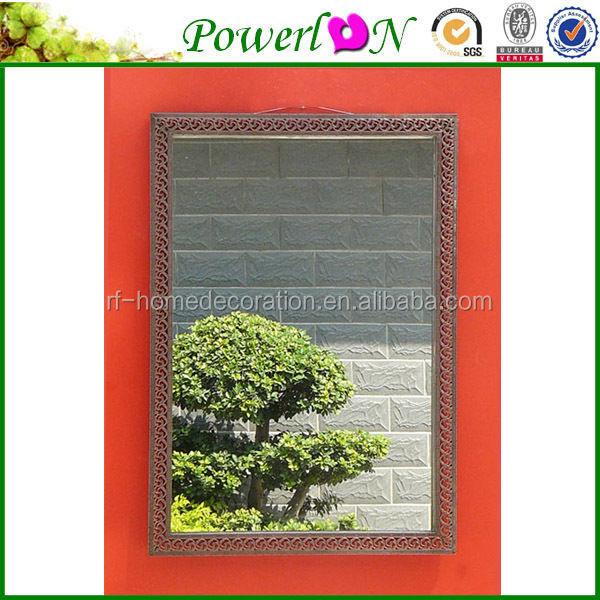 Discounted Unique New Metal Antique Style Wooden Frame Mirror Rectangular Frameless Bathroom Mirror / Decorative Wall Mirrors