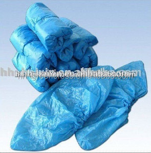 Machine made cheap disposable non-woven PE/CPE waterproof dustproof shoe cover for hotel use