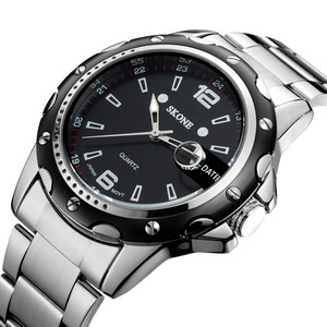 NO 7147 Black Dial Stainless Steel Back guangzhou watch factory